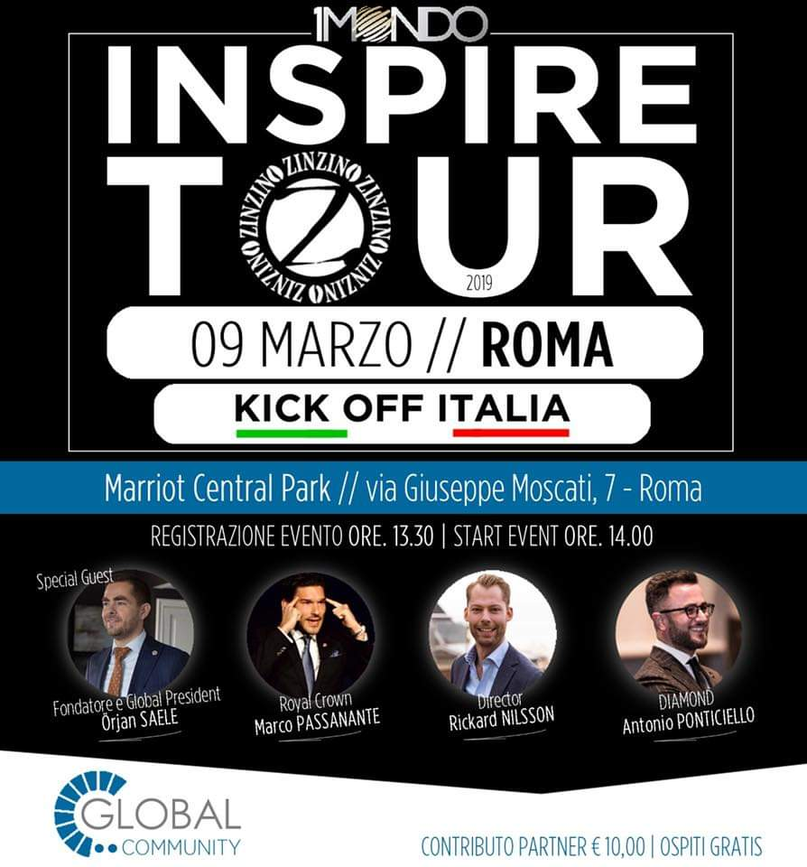INSPIRE TOUR - KICK OFF ITALIA