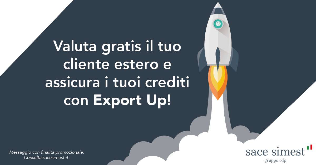 Sace Export UP - Assicurazione del credito commerciale interamente digitale